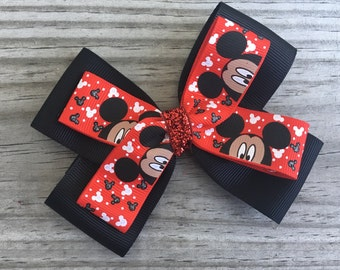 Mickey Mouse Bow / Mickey Bow / Disney Bow