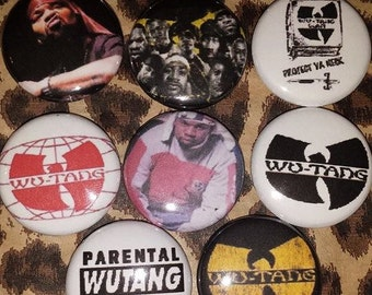 10 Pin Button set Wu-Tang 1 inch Buttons
