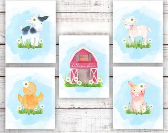 Farm Nursery. Farm Nursery Decor. Farm Animals Nursery Prints. Farmhouse Nursery Decor. Farmhouse Nursery Art. Baby Farm Animals Wall Art.