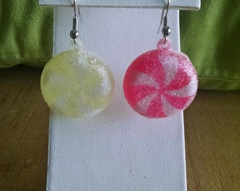 christmas candy earrings
