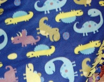 Baby Dinosaur Blanket / Fleece Blanket / Fleece Throw