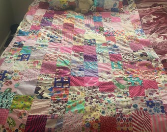 SALE: please read - Bright and fun Little Girl Patchwork Quilt