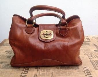 90s vintage handbag leather handbag//////Made in Italy-large leather bag handbag//90s italian bag