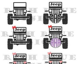 Jeep SVG, Jeep Monogram SVG, jeep, Jeep svg, Jeep cut file, Jeep, Jeep cut image, svg, svg files,cut files, Jeep, Jeep svg file