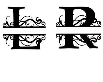 Split Monogram Font Cut File