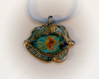 Eye of the night, pendant, blue, talisman, mascot, amulet, Eye, eye of the dragon