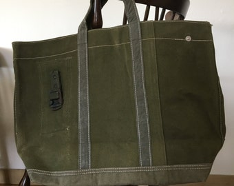 Recycled Green Army Tote