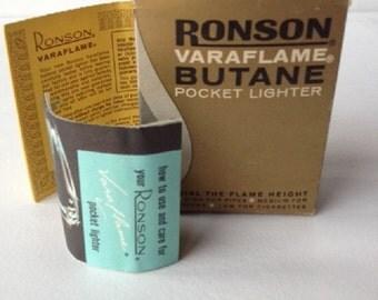 Vintage Ronson Varaflame Butane Pocket Lighter