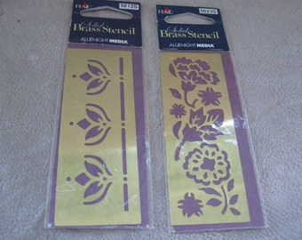 Brass Stencils  Create stunning embossed designs & more - crafts This is a Brass Embossing Template Stencil free shipping in u s a