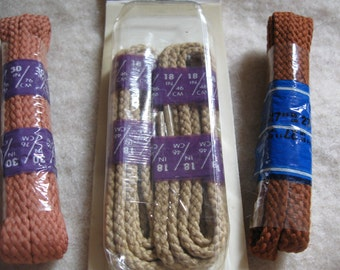 Vintage New Shoe Laces  18 30 27 inches  shoelaces  free shipping in u s a