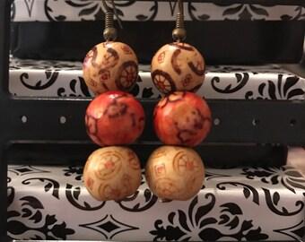 Wooden Bohemian Earrings