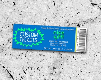 Collectible Theater Tickets *Personalized Digital Printable*