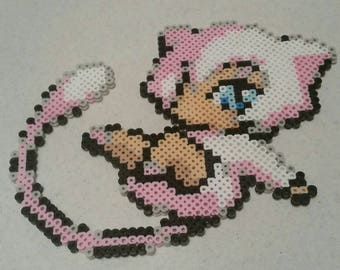 Mew moemon perler bead magnet