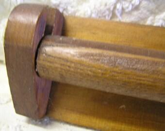 Antique wooden towel bar