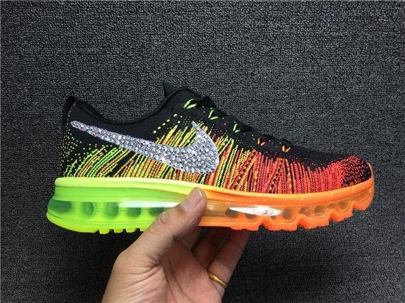 Swoosh Swarovski Crystals Nike Flyknit Air Max by DiyBlingLand 80 ... 7569e1cdc4