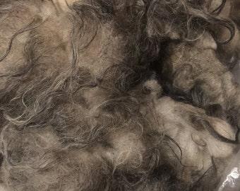 SALE - Raw black and white Icelandic fleece