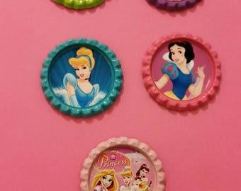 Disney princess finished bottlecaps