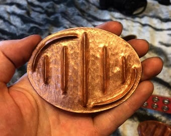 Handwrought Copper Belt Buckle