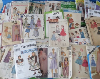 58 Vintage Clothing Patterns Mixed Lot McCalls Butterick New Look Simplicity