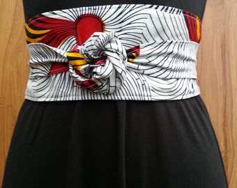 Ankara print obi belt, African print belt, Fabric belt