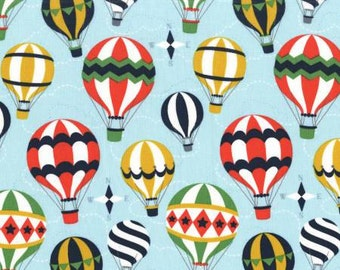 CLEARANCE - Michael Miller - Hot Air Balloons Boy - Up and Away by Emily Herrick - Juvenile and Childrens