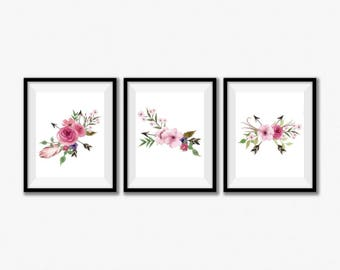 Floral Nursery Decor, Rustic Nursery, Floral Prints, Boho Nursery Printables, Boho Nursery Decor, Floral Nursery Art, Instant Download 8x10