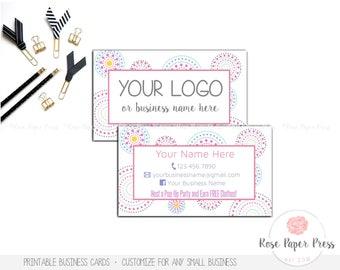 Business Cards, Circle Dots | Custom Printable Business Card