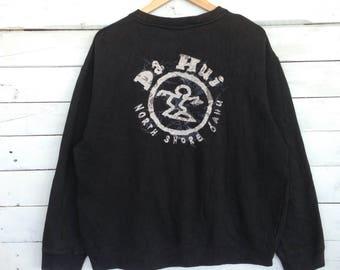 Rare !! Da Hui North Shore Da Hui Hawaii Big Logo Beach Skateboard  Hip Hop Swag X-Large Size #A2