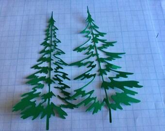 Die Cut Pine Trees - One Set of Eight