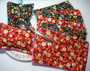 Kit dishes with washable sponges and half sheets of cloth, washable and reusable