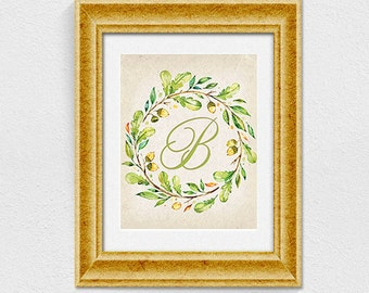 Printable letter B wall decor INSTANT DOWNLOAD