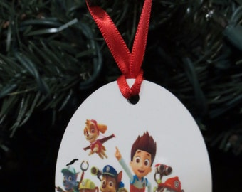 Paw Patrol 2 Inspired Christmas Tree Ornament 2 Sided Can be Personalized NEW