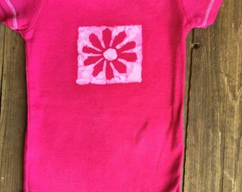 Baby Onesie Flower, Baby girl gift, Shower gift, 9 months