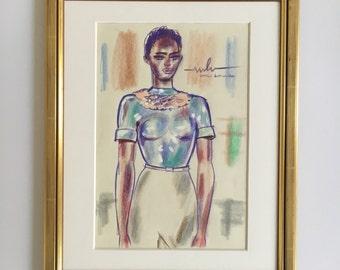 "Fashion illustration original ""MARINA HOERMANSEDER"""