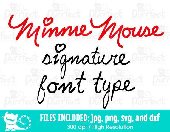 minnie mouse font minnie mouse signature font svg minnie mouse signature svg 6364
