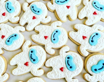 Yeti cookies // yeti //cookies // favors // party ideas//party favors for kids// baby boy//