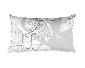 Charleston Pillow, Charleston Decor, Charleston Throw Pillow, Charleston Map, Charleston Art, Charleston SC, Charleston South Carolina
