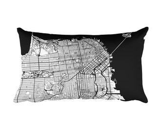 San Francisco Pillow, San Francisco Decor, San Francisco Throw Pillow, San Francisco Gift, Map, San Francisco Art, San Francisco CA