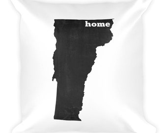 Vermont Pillow, Vermont Gifts, Vermont Decor, Vermont Home, Vermont Throw Pillow, Vermont Art, Vermont Map, Vermont Made, Cushion, State