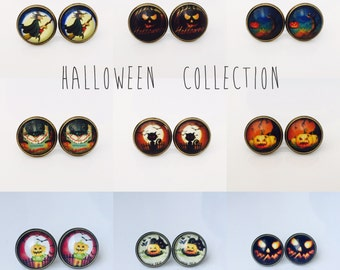 The 'Halloween Collection' Glass Earring Studs