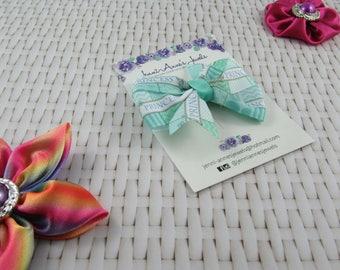 Pinwheel Hair Bow Clip - Princess/Nautical