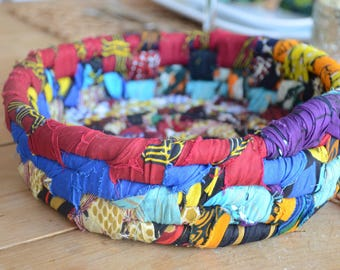African Fabric Bowl