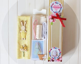 Sets For Creating Hares Tilda Doll Textile Rabbit Stuffed Animal Sweetheart Friend Primitive Plush Baby Shower Gift  Ready Bunny Pattern