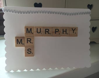 Personalised Scrabble Wedding Cards