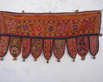Toran Decor: vintage Banjara Toran, Vintage Valence, Door Topper, Temple decor