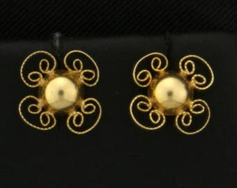 Fashion 14k Yellow Gold Earrings