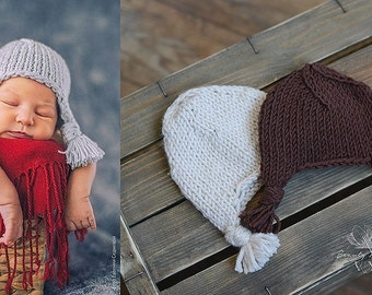 Newborn Knitted Aviator Hat, Newborn Photo Prop, Cozy Knits for Babies