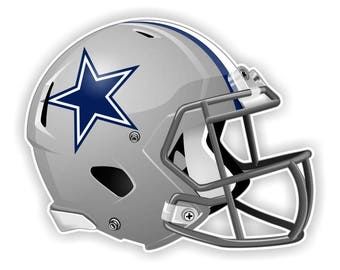 Dallas Cowboys Football Helmet Decal / Sticker Die cut