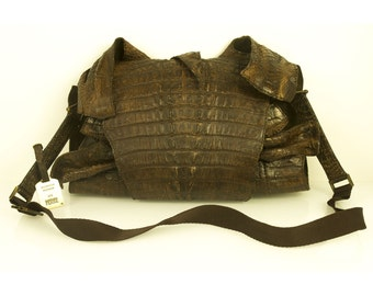 Gianfranco Ferre Limited Edition Runway 2005 Brown Exotic Leathers Alligator Bag