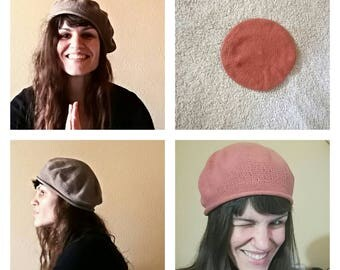 Knitted Hat (Brown or Pale pink)